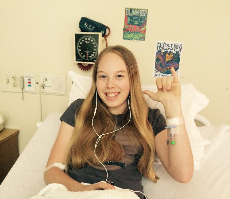Daisy in hospital