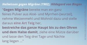 Migräne-Heilwissen 1902